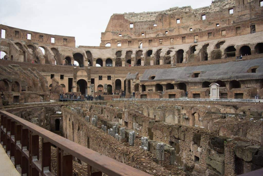 From inside the Colosseum