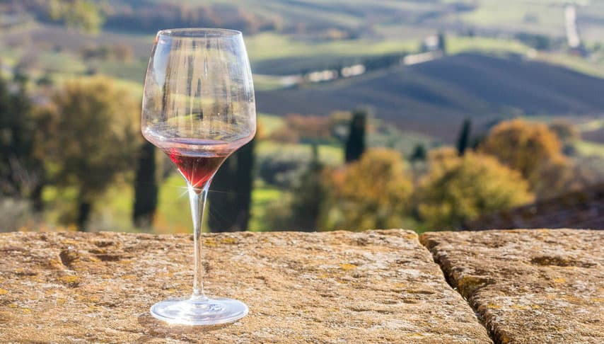 Tuscany wine glass